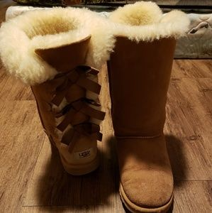 Bailey bow kids ugg boots